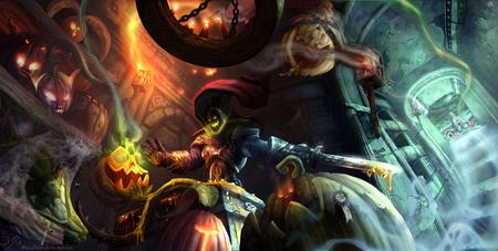 Headless Horseman Wallpaper - hallows end, world of warcraft, headless horseman, pumpkins