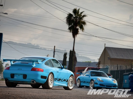 Fast Five Porsche Gt3 - gt3, import, wing, blue