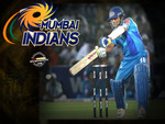 mumbai indian's logo and captain