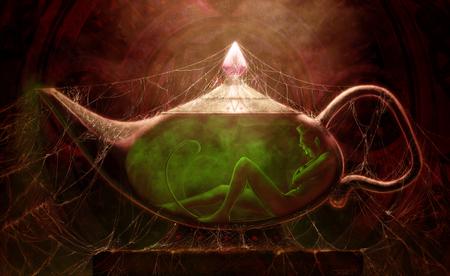 Genie Genderless Fantasy Art