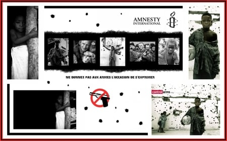 Amnesty International - arms, protection, children, love, wars, face, child, kids, candle, black, collage, sad, bullet, amnesty international, white, political, red, ammo, no, humanitarian, black and white, solidarity, beautiful, picture, photography, bullets, stop, people, torture, light, other, night, amazing, war, humanity, human right, graffiti, arm, peace, boy, girl, dark age, amnesty, dark, popular, collages