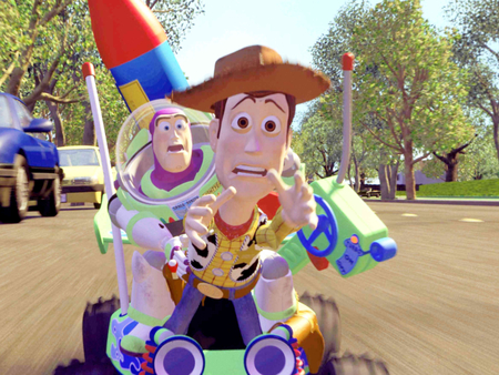 Buzz and Woody - toy, woody, story, buzz