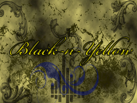 BLACK AND GOLD YELLOW - art, black and gold, black and yellow, texture