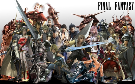 Final Fantasy - warrior of light, capes, vaan, ff7, zack fair, bartz klauser, ff2, cg, squall leonhart, luneth, bartz, golbez, garland, tidus, anime, onion knight, final fantasy, ff12, ff9, squall, ff6, ff3, weapons, cloud strife, firion, lightning, tina branford, games, ff4, video games, ff13, kuja, ff8, kefka, square enix, horns, snow villiers, lightning farron, ff1, sephiroth, cloud, swords, cecil, zidane tribal, zidane, ff5, cecil harvey, jecht, armor, gabranth, claire farron, terra, ff10, terra branford, armour
