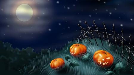 Halloween Special - hd, pumpkin, halloween, sky, moon