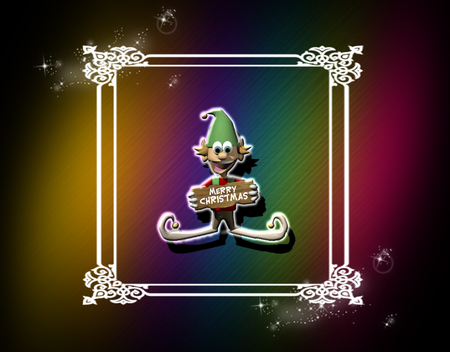 Christmas Elf - elves, ocassions, christmas, colors, holidays, frames, rainbows