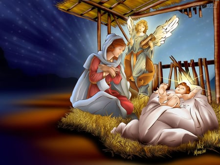 Jesus's birth - 3D and CG & Abstract Background Wallpapers ...