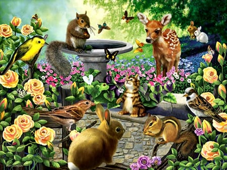 harmony garden animals fcmp other animals background wallpapers on desktop nexus image 852456 - Garden Animals