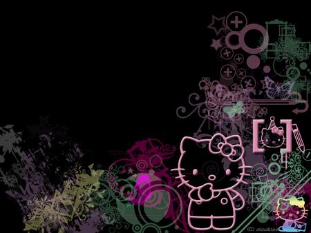 Hello Kitty on Black - Hello Kitty u0026 Anime Background Wallpapers