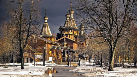 Russian Church 3d And Cg Abstract Background Wallpapers