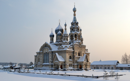 Church in Russia - wonderful architecture, russia church, snow, frozen, cold