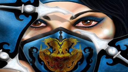 Princesse Kitana Face Of Rage Mortal Kombat Video Games