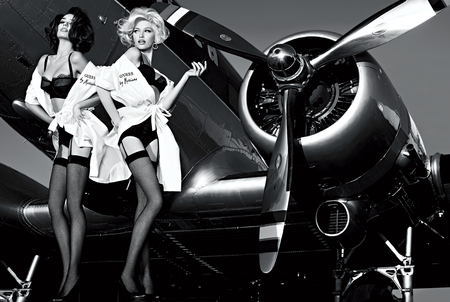Guess by Marciano - vogue, black, beautiful, sexy, marciano, guess, top model, photography, people, air plane
