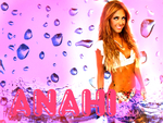 Anahi Purple Pink Wallpaper