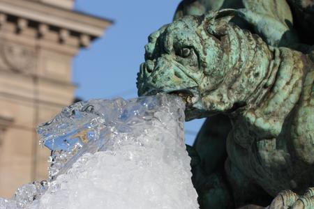 Ice Age in Paris  - water sprinkler, gargoyle, ice, paris, notre dame