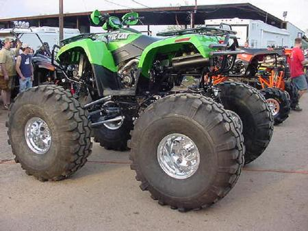 arctic cat - artic cat, big tires, very powerfull, green