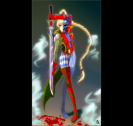 Warhammer 40000 Dawn of War Eldar Harlequin - dawn of war, eldars, female, war, dawn, warhammer 40k, harlequin, warhammer, warrior, girl, eldar, anime, warhammer 40000