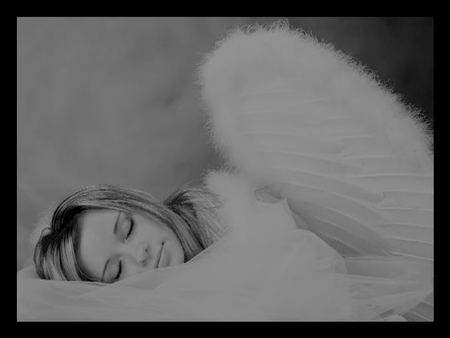 You are the one... - sweet dreams, face, angel, black and whit