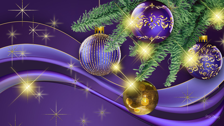 christmas is purple
