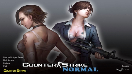 Counter Strike Normal - counter strike, game, girls, gunner