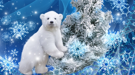 polar bear christmas bears animals background. Black Bedroom Furniture Sets. Home Design Ideas
