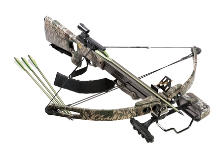 Crossbow - camouflage, abstract, arrow, mission, photography, ammunition, bullets, gun, military, crossbow, cartridges