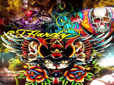 Tattoo art collages abstract background wallpapers on - Ed hardy designs wallpaper ...