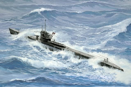 uboat at sea - uboats, military ships, submarines, navy