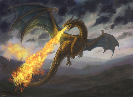 the angry dragon fantasy abstract background wallpapers on
