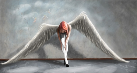 Sad angel 3d and cg abstract background wallpapers on desktop nexus image 865535 - Sad angel wallpaper ...
