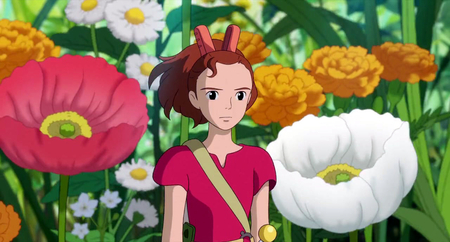 beautiful arietty - arietty, hd, anime, ghibli, beautiful, aweosme, cartoon, scenery