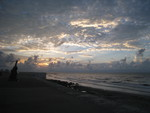 Galveston Beach During Sunrise 2