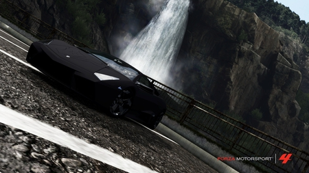 Forza 4 Reventon - houston texans, forza, reventon, forza 4, lamborghini, texans, houston, lamborghini reventon, waterfall