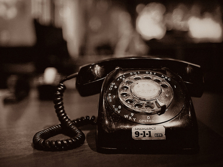 OLD TELEPHONE - Photography & Abstract Background Wallpapers