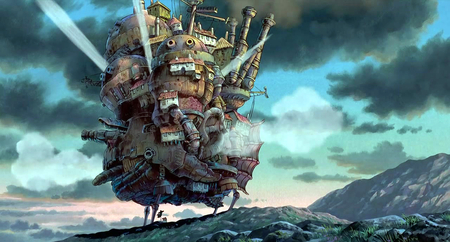 howls moving castle .. - howl, fire, castle, moving, movie, great, anime, magic