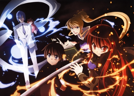 Shakugan no Shana - rinne, hunter friagne, flame haze, anime, guze no tomogara, shakugan no shana, yuji, mistes
