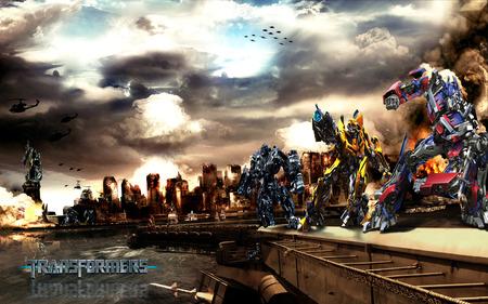Transformers Autobot Vs Decepticons - cg, decepticons, transformers, autobot, ervin, abstract