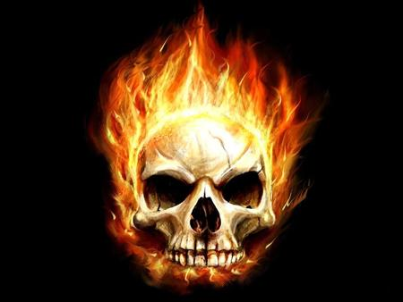 Hot Scorching Skull 3d And Cg Abstract Background Wallpapers On