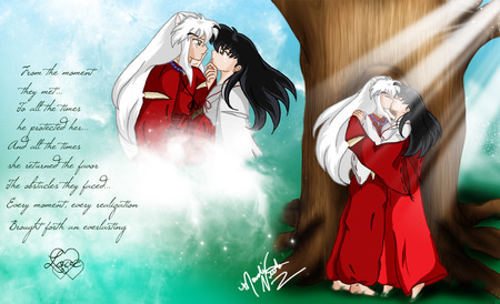 True Love Inuyasha Anime Background Wallpapers On Desktop Nexus