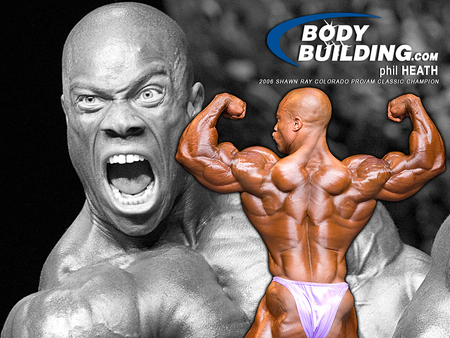phil heath - black, posing, bodybuilder, muscular