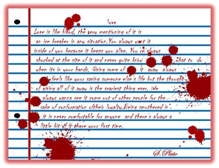 Love - true love, red, love wallpapers, hearts, writing, blood
