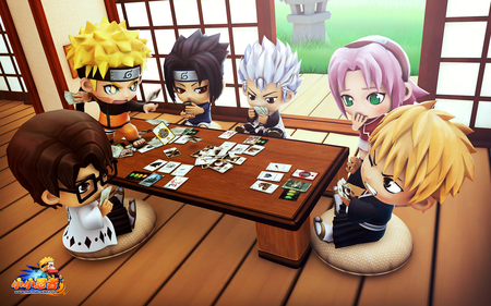 Naruto Playing Cards - naruto, funny naruto, naruto on table, naruto cards