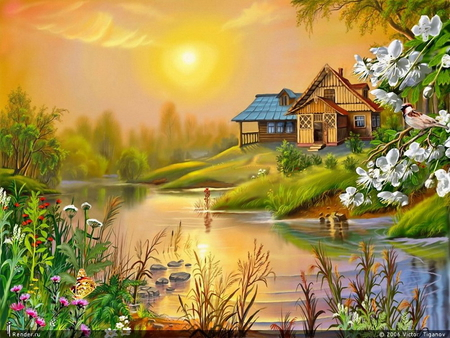 Nature Painting Images Landscape painting