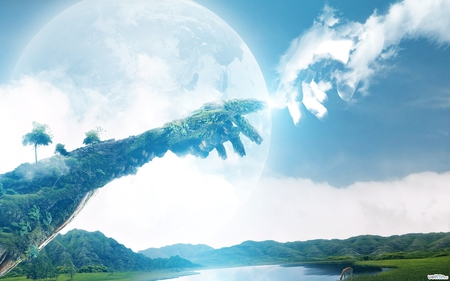 Love Of Sky Earth Fantasy Abstract Background Wallpapers On