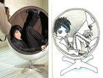 adam lambert in round chair