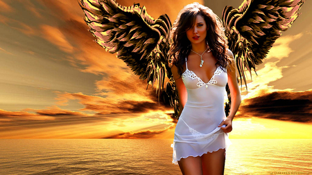 PURE ANGEL - girls, dalissa, perfect angel, glamour angel, babe, sexy angel, angel, sexy girls, woman, angel woman