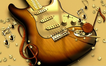 Guitar - entertainment, guitar, cool, music