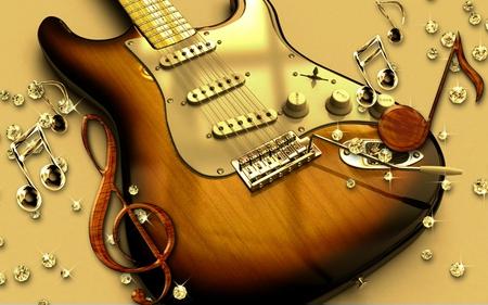 Guitar - cool, entertainment, guitar, music