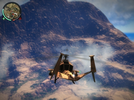 jc2 flying - jc2, helicopter, mountains, flying