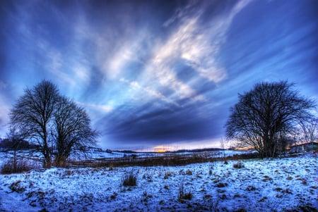 Winter Sky Sky Nature Background Wallpapers On Desktop